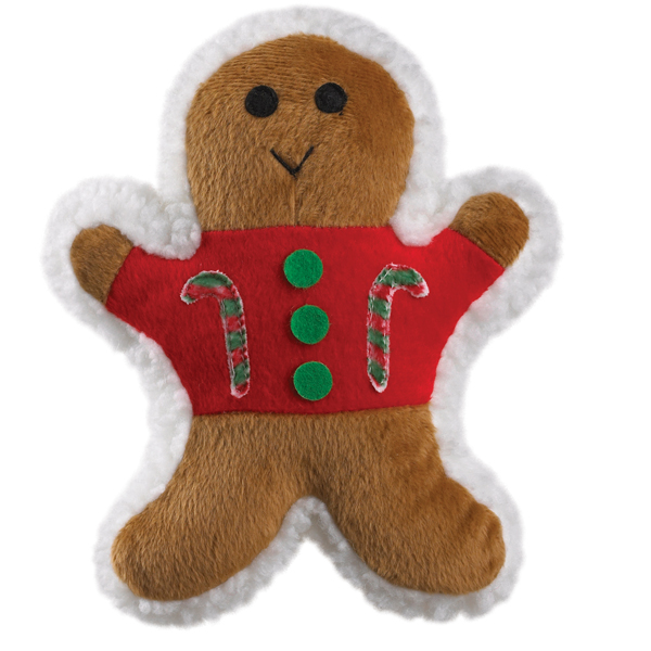 Zanies Ginger Buddies Dog Toy - Candy Cane