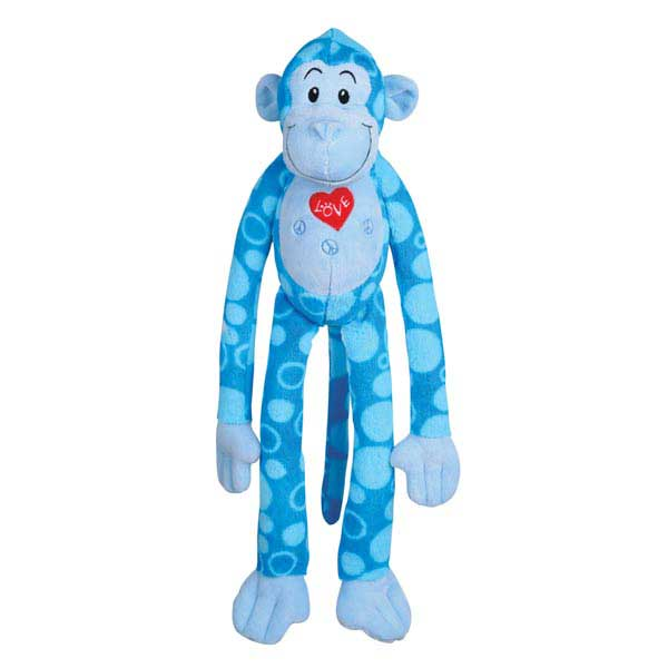Zanies Groovy Gorilla Dog Toy - Blue