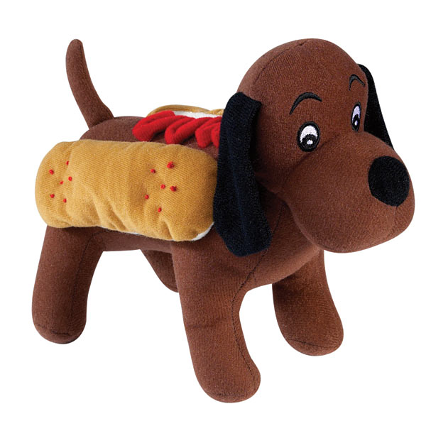 Zanies Halloween Hounds Toy in Costume - Hot Diggity Dog