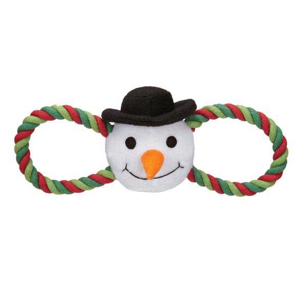 Zanies Holiday Hug Tugs Dog Toy - Snowman