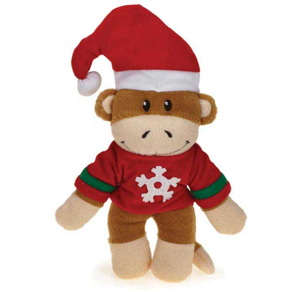 Zanies Holiday Monkey Business Friends Dog Toy - Ty