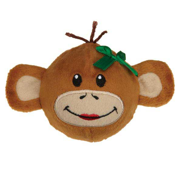 Zanies Holiday Monkey Business Squeaker Dog Toy - Tiff