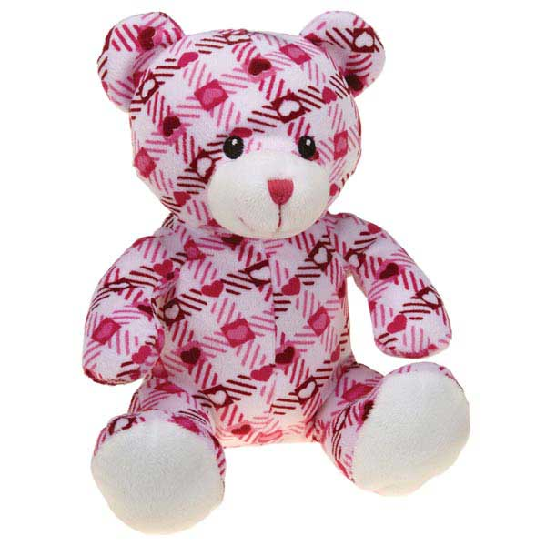 Zanies Kiss N' Cuddle Bears Dog Toy - Plaid