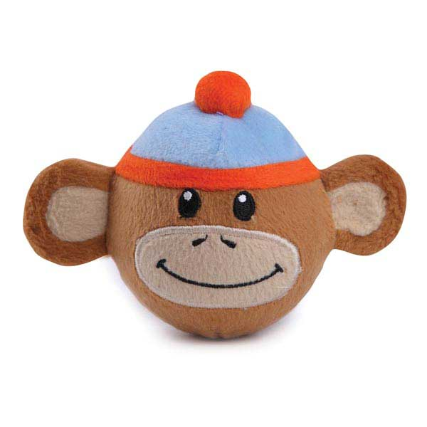 Zanies Monkey Business Squeaker Ball Dog Toy - Ty