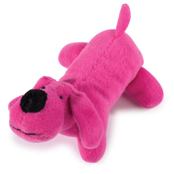 Pink Dog Toy : Zanies neon lil yelpers dog toy hot pink baxterboo