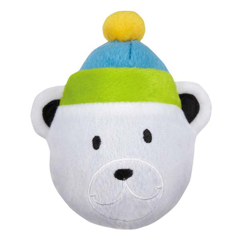 Zanies North Pole Pals Squeaker Ball Dog Toy - Bear