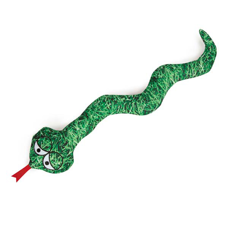 Zanies Photo Real Dog Toy - Grass Snake