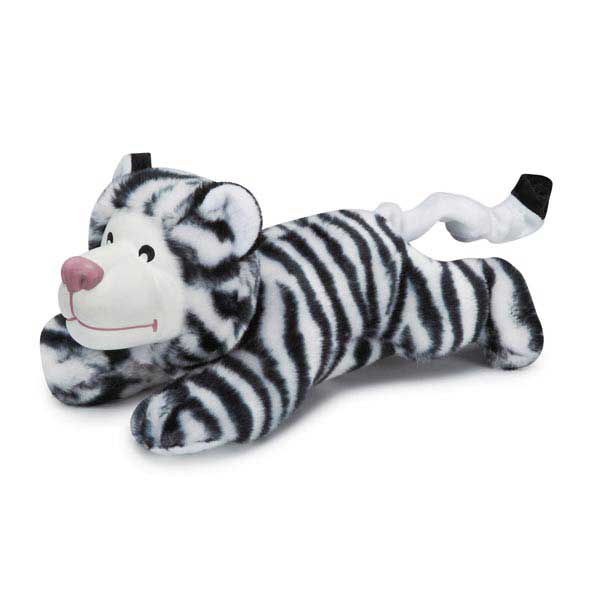 Zanies Playful Pouncers Dog Toy - White Tiger