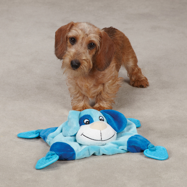 Zanies Puppy Snuggler Toy - Blue