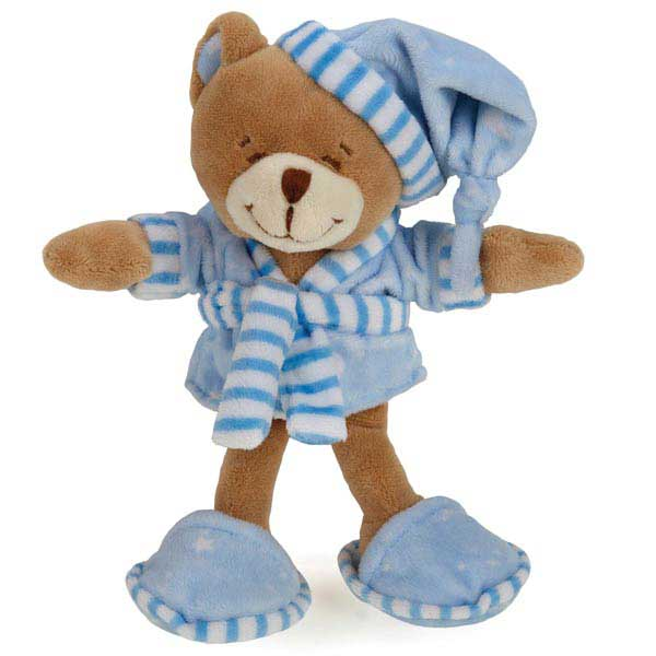 Zanies Sleepy Teddies Dog Toy - Blue