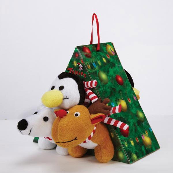 Zanies Snowy Night Crew Dog Toy Gift Pack
