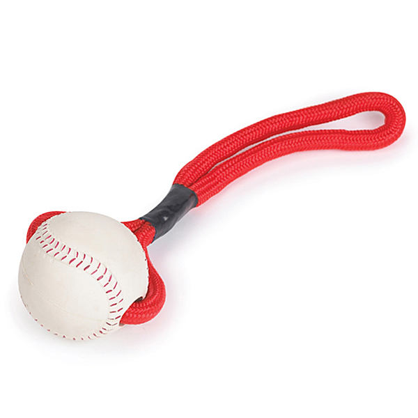 Zanies Sports Rope and Rubber Tugs - Baseball