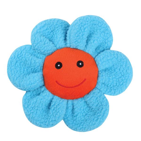 Zanies Spring Garden Berber Flower Doy Toy - Blue