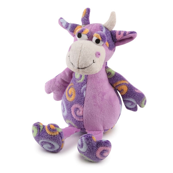 Zanies Swirly Herd Dog Toy - Purple