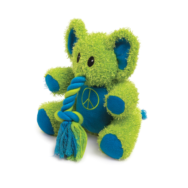 Zanies Trunk Tugger Dog Toy - Green
