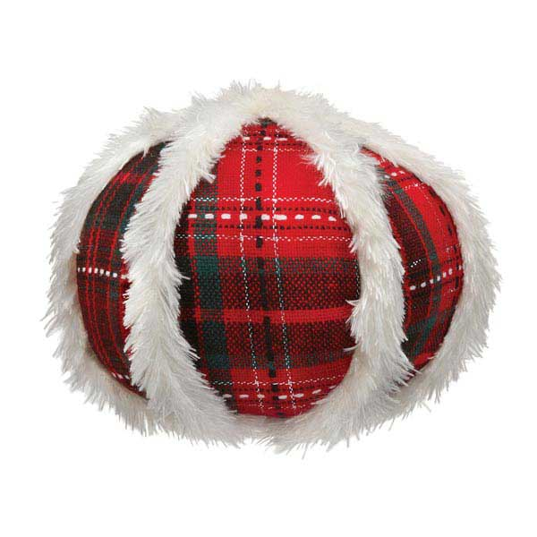 Zanies Yuletide Tartan Ball Dog Toy