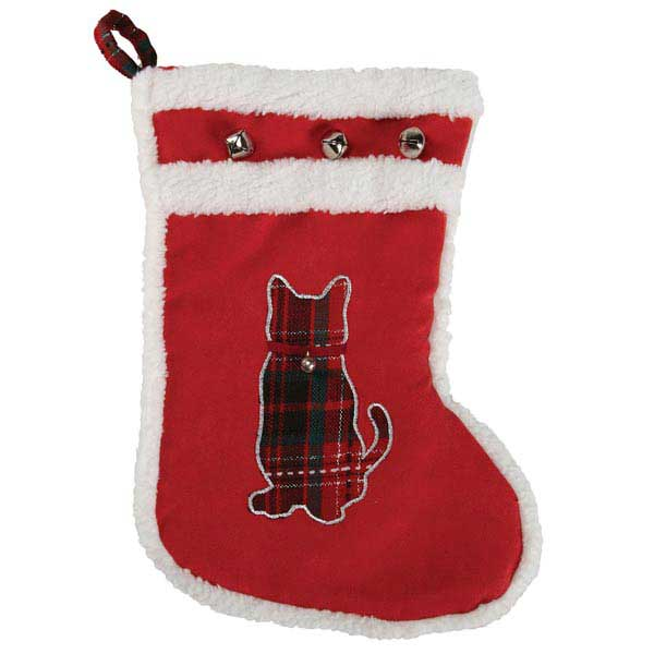 Zanies Yuletide Tartan Pet Stocking - Cat
