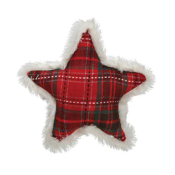 Zanies Yuletide Tartan Star Dog Toy