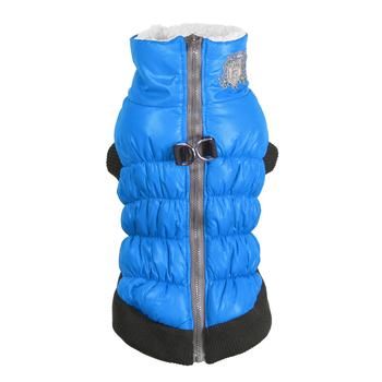 Crown Scrunchy Puffer Dog Vest by Hip Doggie - Blue starting at $17.00!