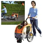 View Image 1 of 2-in-1 Guardian Gear Cross-Trainer Pet Stroller - Orange