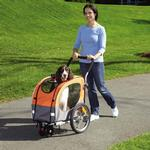 View Image 3 of 2-in-1 Guardian Gear Cross-Trainer Pet Stroller - Orange
