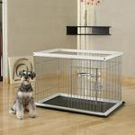 View Image 1 of 2 Way Door Pet Pen with Floor Tray - Origami White/Black