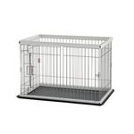 View Image 2 of 2 Way Door Pet Pen with Floor Tray - Origami White/Black