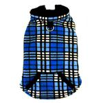 View Image 2 of 4 in 1 Fleece Dog Hoodie and Vest Combination - Blue Plaid
