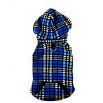 View Image 4 of 4 in 1 Fleece Dog Hoodie and Vest Combination - Blue Plaid