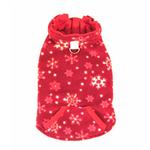 View Image 4 of 4 in 1 Fleece Dog Hoodie and Vest Combination - Red Snowflake