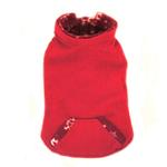 View Image 3 of 4 in 1 Fleece Dog Hoodie and Vest Combination - Red Snowflake