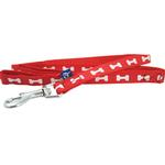View Image 1 of ActiveGo Bone Leash by Dogo - Red