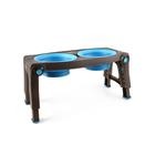 View Image 1 of Adjustable Pet Feeder by Popware - Blue