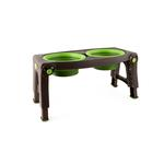 View Image 1 of Adjustable Pet Feeder by Popware - Green