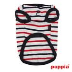 View Image 3 of Admiral Hooded Dog T-Shirt by Puppia - Navy