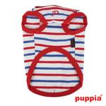 View Image 2 of Admiral Hooded Dog T-Shirt by Puppia - Red