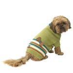 View Image 1 of AJ's Applique Dog Sweater - Green