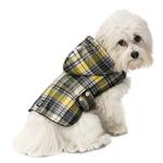 View Image 1 of Alberta Quilted Dog Parka - Cornsilk Plaid