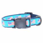 View Image 2 of All American Pup Dog Collar - Blue