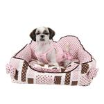 View Image 1 of Almee Dog Bed by Pinkaholic - Pink