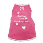 View Image 1 of Always the Bridesmaid Dog Tank - Pink