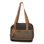 View Image 1 of Amelia Collection Dog Tote - Black w/ Tan Trim