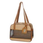 View Image 1 of Amelia Collection Dog Tote - Sand w/ Tan Trim