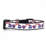 View Image 1 of American Owls Ribbon Dog Collar