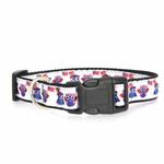 View Image 2 of American Owls Ribbon Dog Collar