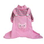View Image 1 of Animal Overalls Dog Pajamas - Pig
