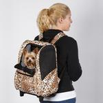 View Image 4 of Animal Print Backpack Dog Carrier on Wheels - Cheetah
