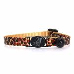 View Image 2 of Animal Print Cat Collar - Giraffe