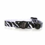 View Image 2 of Animal Print Cat Collar - Zebra
