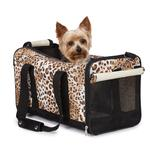View Image 1 of Animal Print Duffle Carrier by Casual Canine - Cheetah